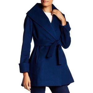 Trina Turk Ali Wrap Coat - Blue